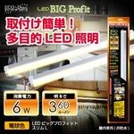 【節電】【電気工事不要】多目的LED照明 LEDビッグプロフィット スリムL (電球色)