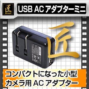 【防犯用】USB ACアダプター ミニ5V1000mA(匠ブランド)小型カメラ用 - 拡大画像