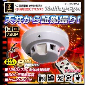 【小型カメラ】火災報知器型ビデオカメラ(匠ブランド)『Ceiling-Eye』(シーリングアイ) - 拡大画像