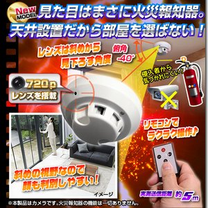 【小型カメラ】火災報知器型ビデオカメラ(匠ブランド)『Ceiling-Eye』(シーリングアイ)