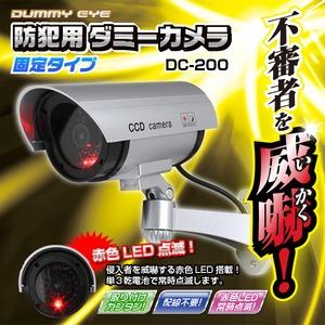 【屋外】防犯用ダミーカメラ(固定タイプ)DC-200 - 拡大画像