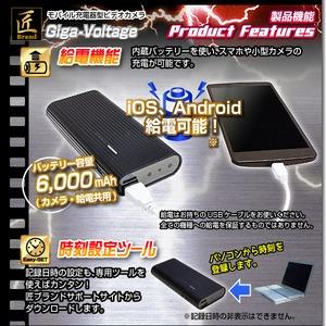 【小型カメラ】モバイル充電器型ビデオカメラ(匠ブランド)『Giga-Voltage』(ギガボルテージ) f04