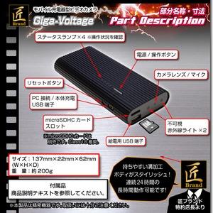 【小型カメラ】モバイル充電器型ビデオカメラ(匠ブランド)『Giga-Voltage』(ギガボルテージ) f05