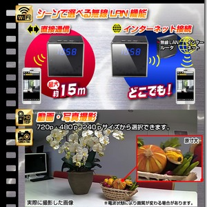 【小型カメラ】WiFi置時計型ビデオカメラ(匠ブランド)『Cubo』(クーボ) f06