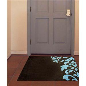 アクリル玄関マット クラウン 50×80 ブラウン