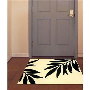 アクリル玄関マット バリ 50×80 ブラック - 拡大画像