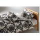 LANCETTI(ランチェッティ) パラッツォ 掛け布団カバー ダブル ブラック 綿100% 日本製