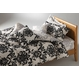 LANCETTI(ランチェッティ) パラッツォ BOXシーツ セミダブル グレー 綿100% 日本製