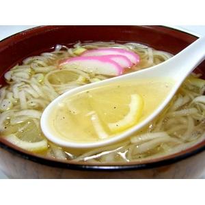 【比内地鶏】の鶏塩スープで食べる「鶏塩や」稲庭うどん★レモン果汁付★ご家庭用( 8食入)  - 拡大画像