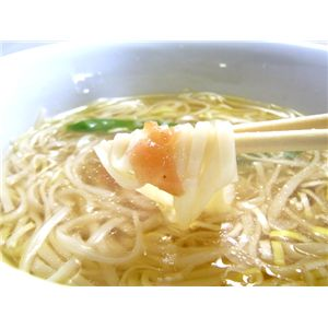 【比内地鶏】の鶏塩スープで食べる「鶏塩や」稲庭うどん★練り梅付★ご家庭用(12食入)