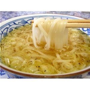 【お歳暮用 のし付き(名入れ不可)】【比内地鶏】の鶏塩スープで食べる「鶏塩や」稲庭うどん★ご贈答用 (4食入)  - 拡大画像