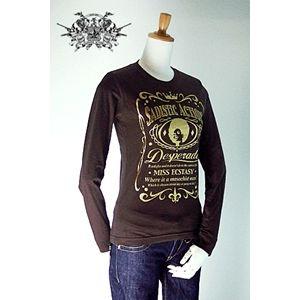 sadistic action(サディスティック・アクション) ロングTシャツ l stee women brown M h01