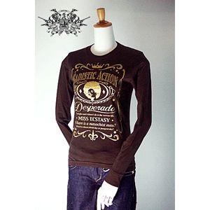 sadistic action(サディスティック・アクション) ロングTシャツ l stee women brown M h02