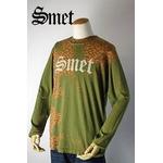 smet(スメット) long tee flagskull(men's) green S