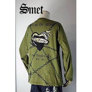 smet(スメット) long tee crow(men's) green S h02