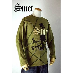 smet(スメット) long tee crow(men's) green L h01