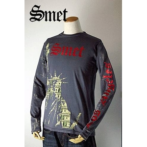 smet(スメット) long tee charcoal(men's) gray S h01