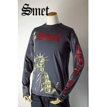 smet(スメット) long tee charcoal(men's) gray S