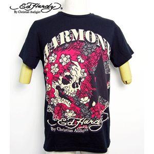 ed hardy(エドハーディー) メンズTシャツ BEAUTIFUL GHOST ブラック S - 拡大画像
