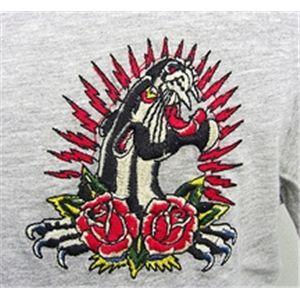 ed hardy(エドハーディー) メンズTシャツ Basic PANTHER & ROSES ベージュ S h03