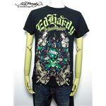 ed hardy(エドハーディー) メンズTシャツ DOUBLE LOVE BLACK【A9DBAAQK】 M