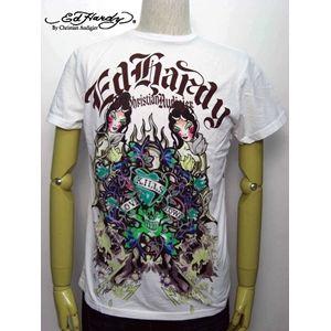 ed hardy(エドハーディー) メンズTシャツ DOUBLE LOVE WHITE【A9DBAAQK】 S