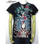 ed hardy(エドハーディー) メンズTシャツ Skull Dagger & Blue Tigers Black L