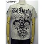ed hardy(エドハーディー) メンズTシャツ Double Skull & Tiger Beige M