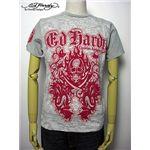 ed hardy(エドハーディー) メンズTシャツ Two Swords Skull & Snakes Light Grey M