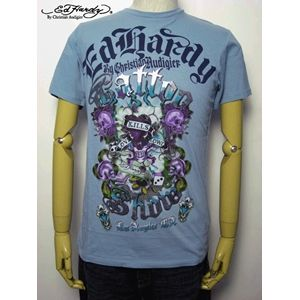 ed hardy(エドハーディー) メンズTシャツ Love Kills Slowly GAMBLE ライトブルー M - 拡大画像