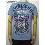 ed hardy(エドハーディー) メンズTシャツ Love Kills Slowly GAMBLE ライトブルー L
