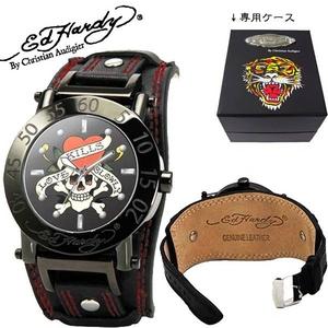ed hardy(エドハーディー) 腕時計 メンズ/レディース ラブキル【HU-LK0082】ブラック  - 拡大画像