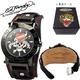 ed hardy(エドハーディー) 腕時計 メンズ/レディース ラブキル【HU-LK0082】ブラック  - 縮小画像1