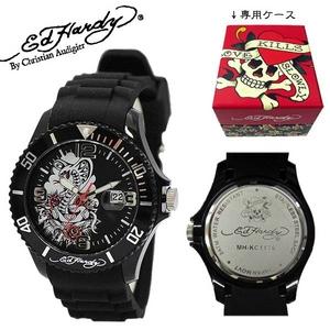 ed hardy(エドハーディー) 腕時計 メンズ/レディース【MH-KC1176】ブラック - 拡大画像