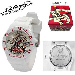 ed hardy(エドハーディー) 腕時計 メンズ/レディース【MH-PR0360】ホワイト - 拡大画像