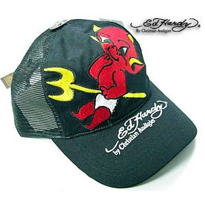 Ed Hardy(エドハーディー) キャップ BASIC CAP DEVIL WITH PITCH FORK【A0P0AAAO】 ブラック