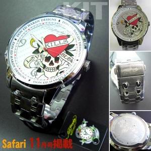 サファリ11月号掲載!エドハーディー腕時計【ED HARDY】Ed Hardy Watch STELLER2シリーズ【ST2-SR】 - 拡大画像
