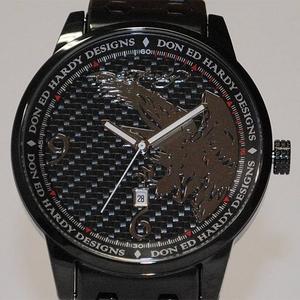 サファリ11月号掲載!エドハーディー腕時計【ED HARDY】Ed Hardy Watch STELLER2シリーズ【ST2-BK】 - 拡大画像