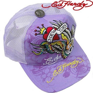 Ed Hardy(エドハーディー) キャップED HARDY BASIC CAP/ NYC ニューヨーク/ LILAC【R1P0AUXK】