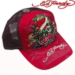 Ed Hardy(エドハーディー) キャップ ED HARDY SPECIALTY CAP/ TRUE HEART COLLAGE ハート/ RED【R1P0AD7U】