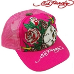 Ed Hardy(エドハーディー) キャップ ED HARDY BASIC CAP/ SKULL AS YOU WILL BE&ROSES スカル ローズ/ HOTPINK【R1P0AU70】