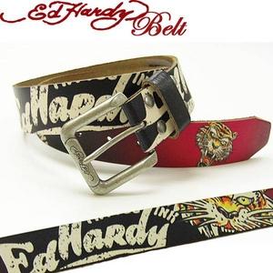 Ed Hardy Belt(エドハーディー ベルト)レザー ベルト【EH1386】NEW TIGER ニュータイガー ユニセックス XS