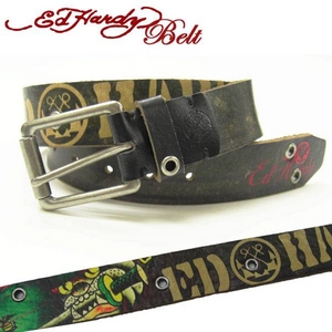 Ed Hardy Belt(エドハーディー ベルト) レザー ベルト【EH1425】ブルドック・ソード ユニセックス XS  - 拡大画像