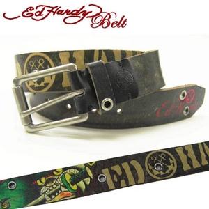 Ed Hardy Belt(エドハーディー ベルト) レザー ベルト【EH1425】ブルドック・ソード ユニセックス S  - 拡大画像