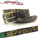 Ed Hardy Belt(エドハーディー ベルト) レザー ベルト【EH1425】ブルドック・ソード ユニセックス S