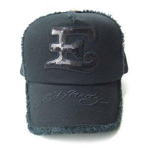 Ed Hardy(エドハーディー) キャップ ED HARDY JAPAN LIMITED BLACK LINE COLLECTION CAP ロゴ スパンコール【C50ABC522】 - 拡大画像