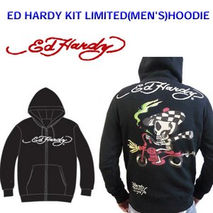 Ed Hardy(エドハーディー) メンズ パーカー ED HARDY KIT LIMITED HOODIE SPEEDY スビーディー 【M08LMT103】 XL - 拡大画像