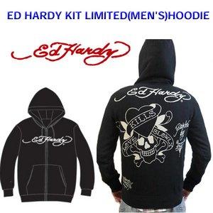 Ed Hardy(エドハーディー) メンズ パーカー ED HARDY KIT LIMITED HOODIE LKS ラブキル 【M08LMT052】 S - 拡大画像