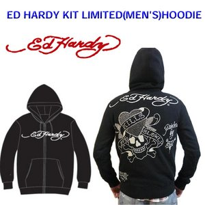 Ed Hardy(エドハーディー) メンズ パーカー ED HARDY KIT LIMITED HOODIE LKS ラブキル ラインストーン 【M08LMTR052】 S - 拡大画像