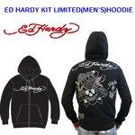 Ed Hardy(エドハーディー) メンズ パーカー ED HARDY KIT LIMITED HOODIE LKS ラブキル ラインストーン 【M08LMTR052】 L